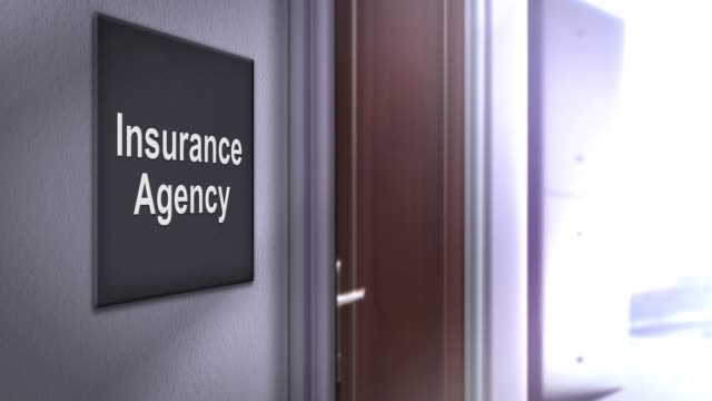 現代室內建築標牌系列-保險代理 - insurance 個影片檔及 b 捲影像