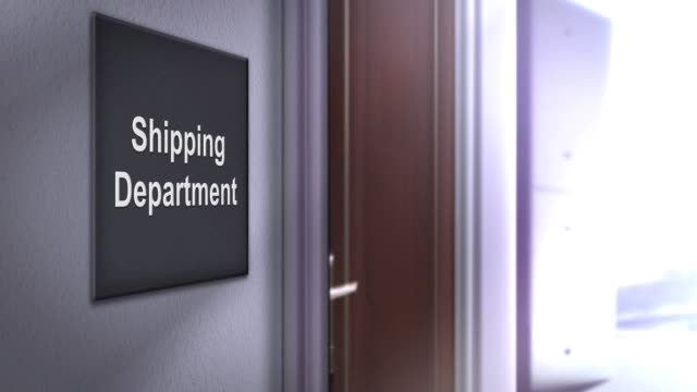 Modern interior building signage series - Shipping Department Modern interior building signage series - Shipping Department post structure stock videos & royalty-free footage