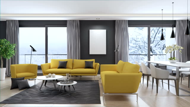 Modern interior living room
