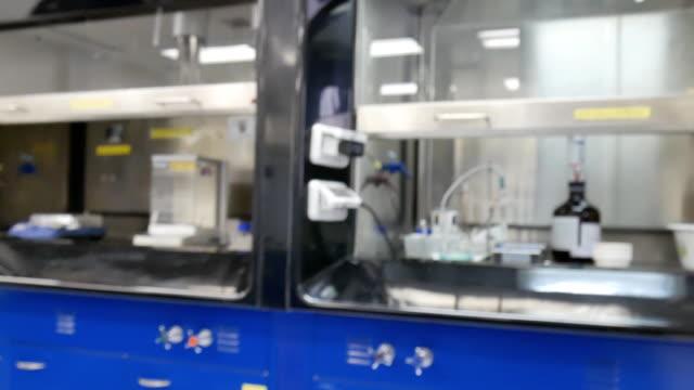 Modern laboratory interior Modern laboratory interior , smooth panning video biochemistry stock videos & royalty-free footage