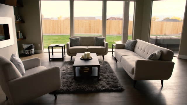 Modern Living Room in a New House