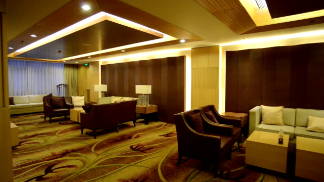 Modern Lobby interior and decoration.Real time. video