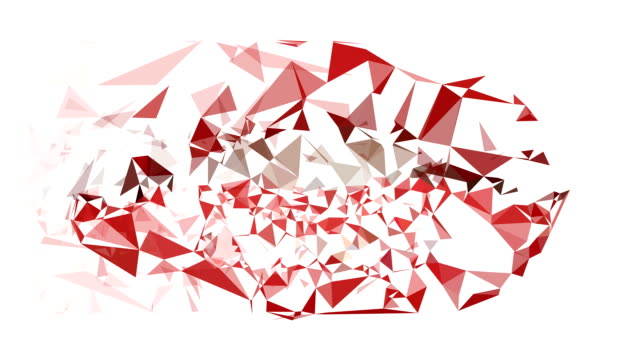 lippen: moderne low poly-stil (überleitung) - woman and polygon stock-videos und b-roll-filmmaterial