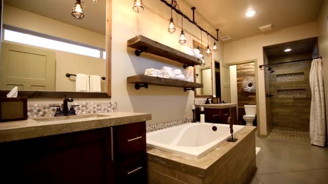Modern Master Bathroom Rise Up from Floor