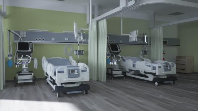 stockvideo's en b-roll-footage met modern medisch bed en beademing - ventilator bed