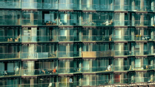 Modern multistorey apartment block video