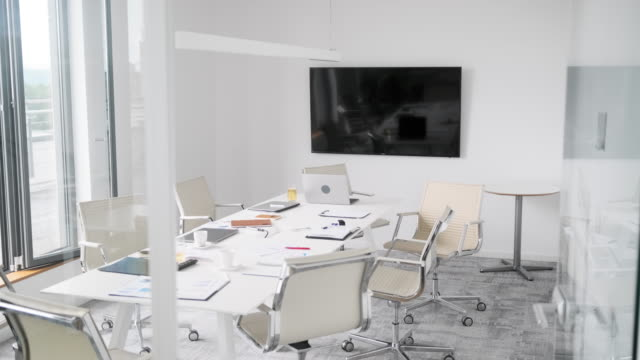 Modern Office Board Room with Natural Light and View video