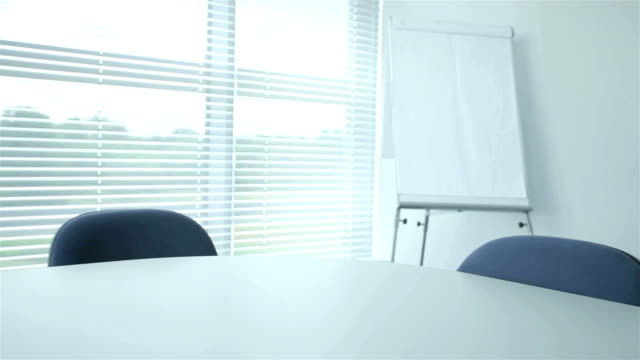 Modern office prepared for a meeting video