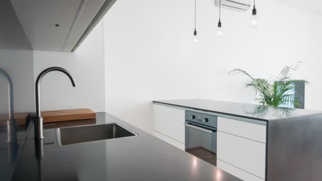 Modern open plan kitchen living room design