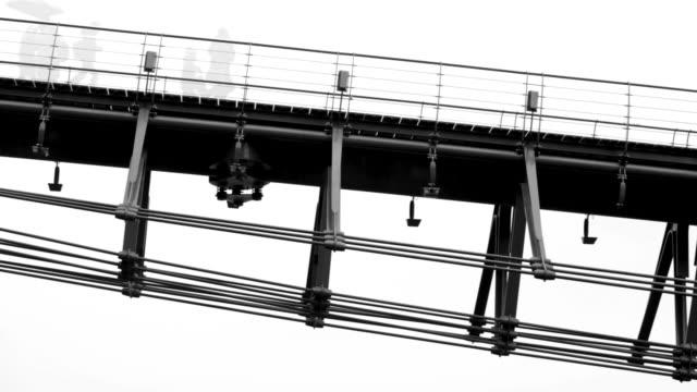 modern pedestrian bridge, multi exposure movie, amsterdam, the netherlands - kontrastrik bildbanksvideor och videomaterial från bakom kulisserna