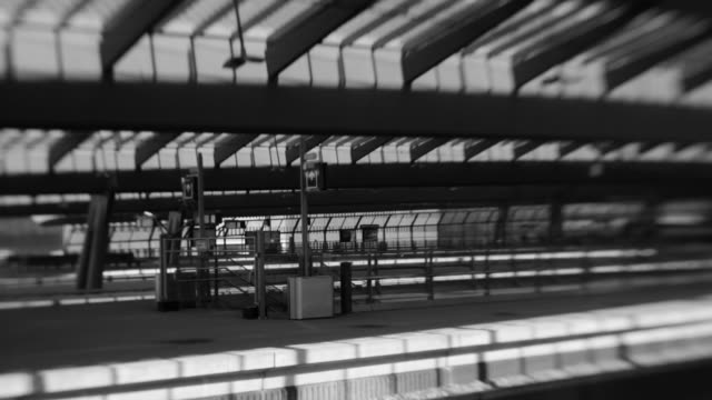 Modern railway station architecture, Amsterdam Bijlmer Arena, loop video