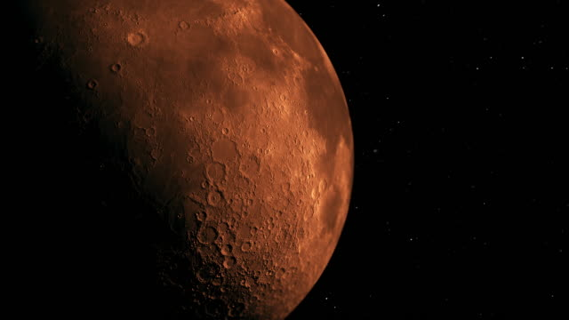 Modern Red Moon A modern new look our Moon space exploration stock videos & royalty-free footage