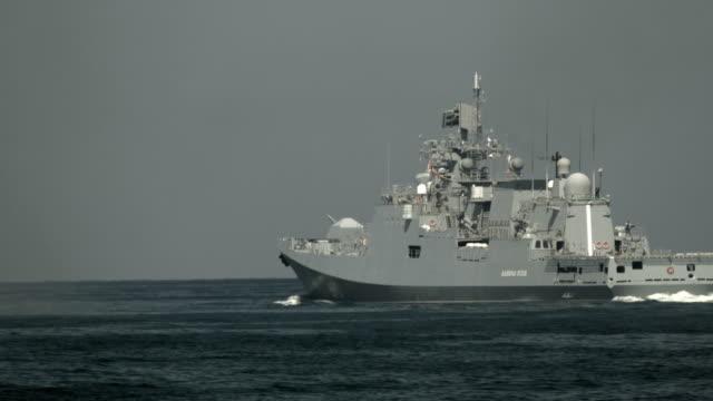Bидео modern Russian missile frigate