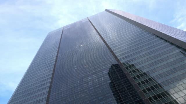 LA Modern skyscraper with glass elevators video