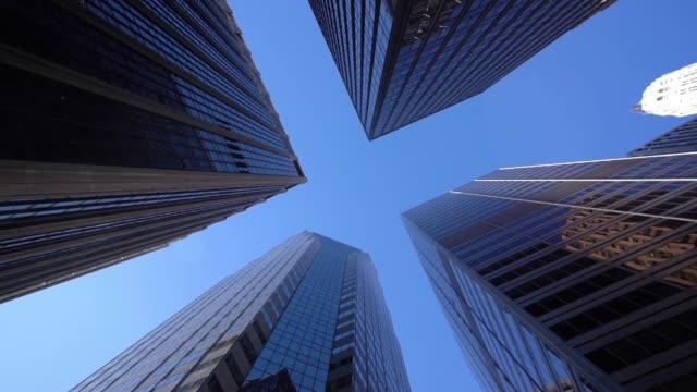 vidéos et rushes de ws la modern gratte-ciel à lower manhattan/new york city, états-unis - vue en contre plongée verticale
