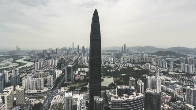 T/L ZI Modern Skyscrapers in Shenzhen and Shenzhen Skyline video