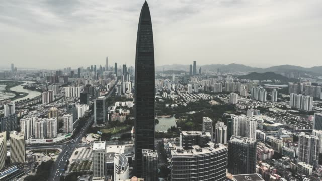 T/L TU Modern Skyscrapers in Shenzhen / Guangdong, China video