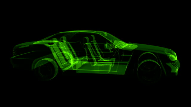 HOLOGRAM modern sports car video