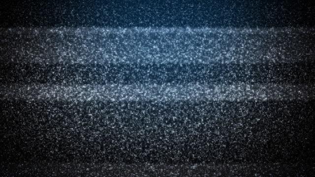 vídeos de stock e filmes b-roll de modern televisão estática (loopable - plano picado