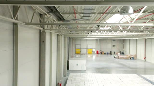 Modern warehouse full of goods video