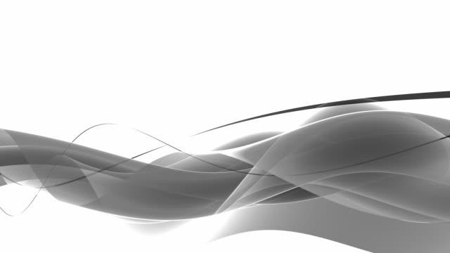 モダンなウェイブズループホワイトのシルバー(hd - 線点の映像素材/bロール