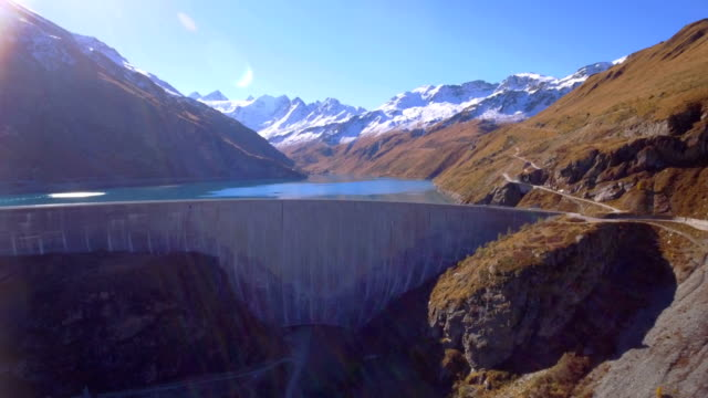 Moiry frontal traveling - Aerial 4K video