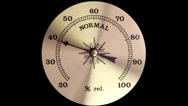 moisture meter of air. the increase in humidity - barometer bildbanksvideor och videomaterial från bakom kulisserna