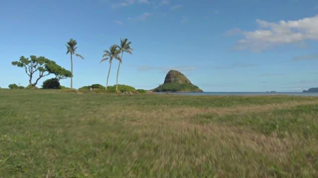Mokoli'i Island seen from Kualoa in Hawaii