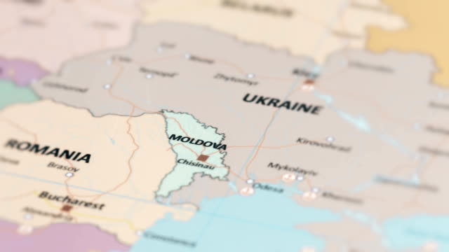 europe moldova on world map - молдавия стоковые видео и кадры b-roll