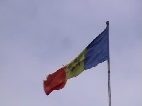 flaga moldovian - polityka i rząd filmów i materiałów b-roll