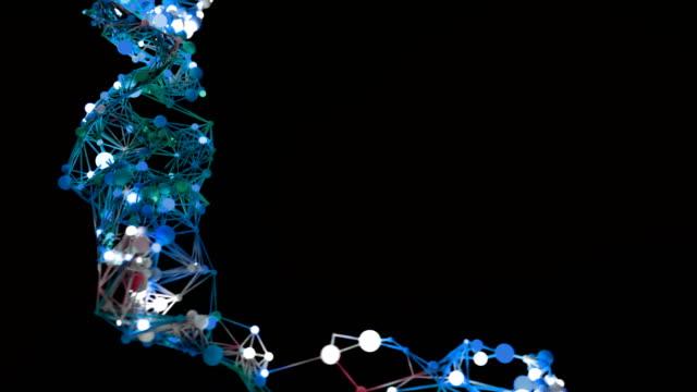 molekylära nätverk tillväxt. - 4 kilometer bildbanksvideor och videomaterial från bakom kulisserna