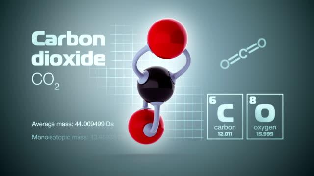 molecola di anidride carbonica - anidride carbonica video stock e b–roll