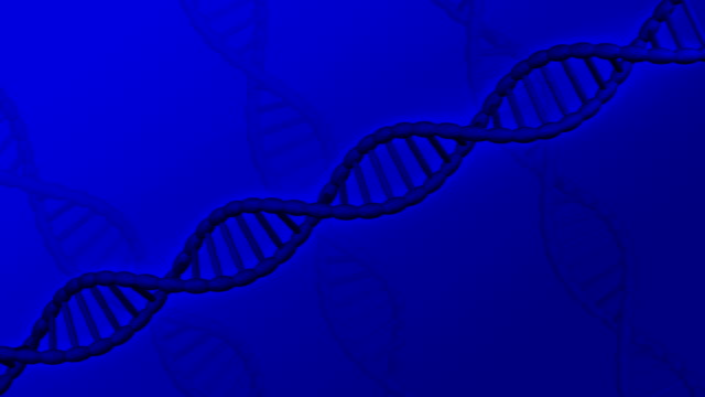 DNA molecule turn around. video