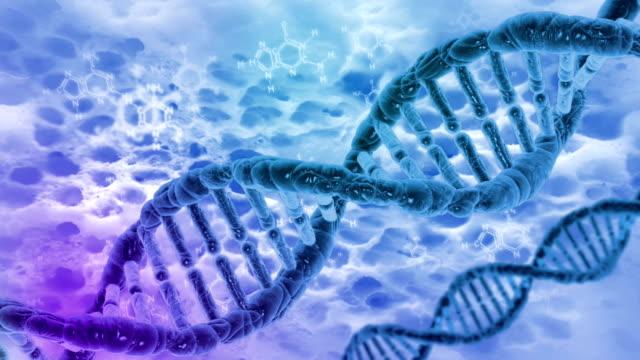 DNA molecules cyclical video video
