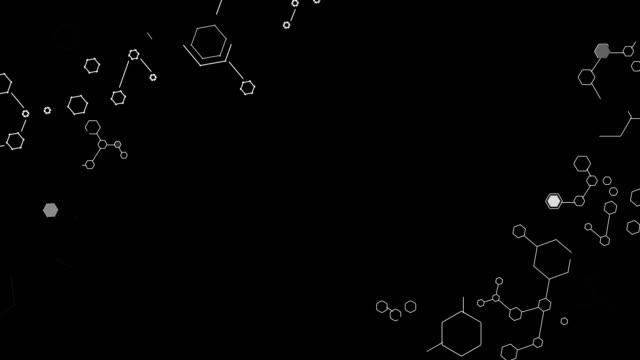 moleküle element hintergrund für video - quadratisch komposition stock-videos und b-roll-filmmaterial