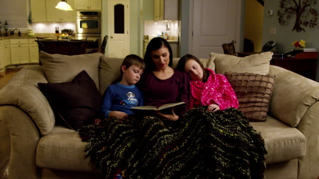 Mom reading to kids - wide video