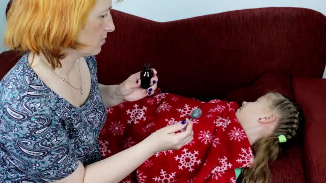 Mom treats her sick daughter video