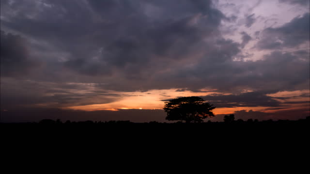 Moment of cloud at sunset in rainy season. Time lapse. video