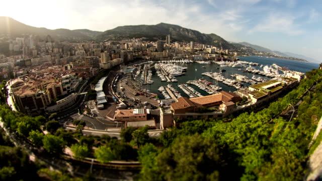 Monaco Cityscape Time Lapse Fisheye video