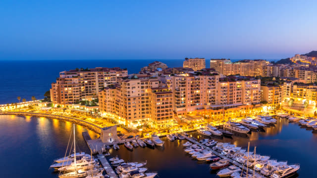 Monaco Ville city skyline day to night timelapse, Monte Carlo, Monaco 4K Time lapse Monaco Ville city skyline day to night timelapse, Monte Carlo, Monaco 4K Time lapse monte carlo stock videos & royalty-free footage