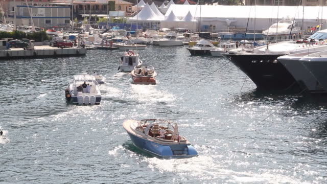Monaco Yacht Show Speed Boat Taxis video