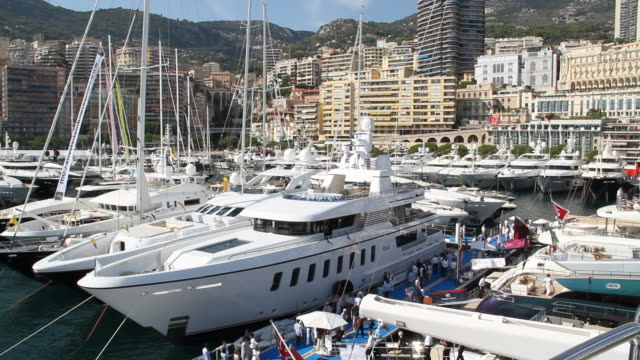 Monaco Yacht/Boat Show 25fps, Photo JPEG, Duration: 1920x1080 yachting stock videos & royalty-free footage