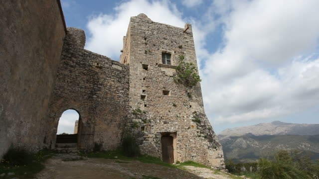 stockvideo's en b-roll-footage met monastery - puig de maria /time lapse - klooster
