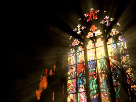 stockvideo's en b-roll-footage met monastery window - kerk