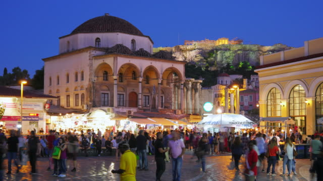 Monastiraki Square Athens Greece video