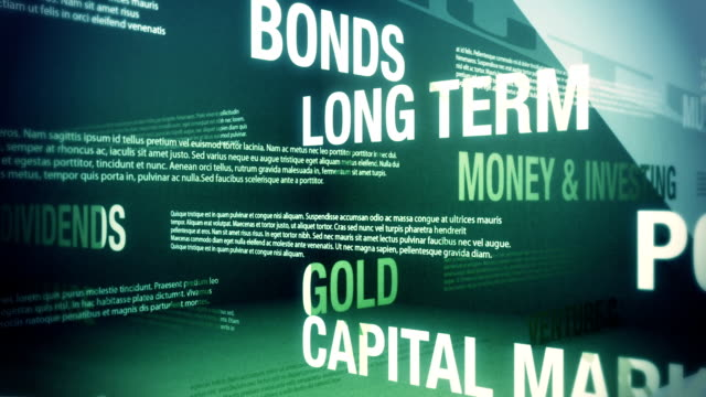 money and investing related terms - financial planning stock videos and b-roll footage