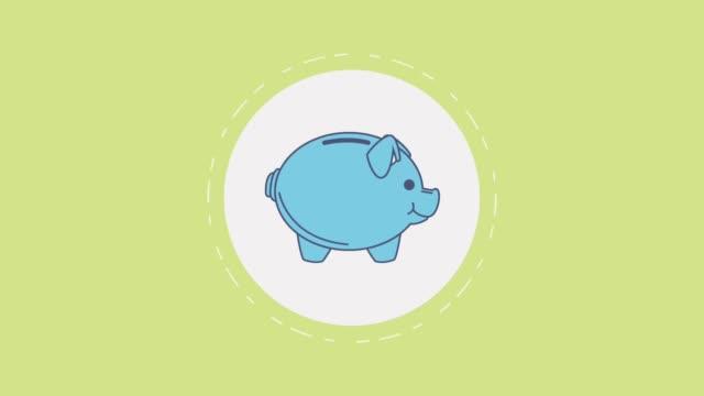 Money and savings HD animation