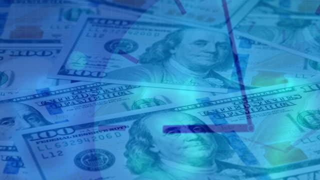 деньги рассчитывать dolly loopable анимации - dollar bill стоковые видео и кадры b-roll