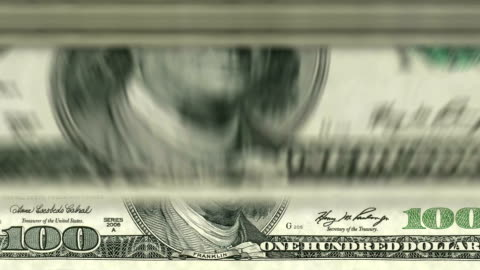 para sayma makinesi aşağı-100 dolar - money stok videoları ve detay görüntü çekimi