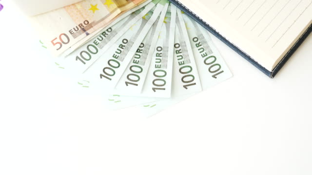 Money Euro banknote for business concept , 4k resolution (UHD) video